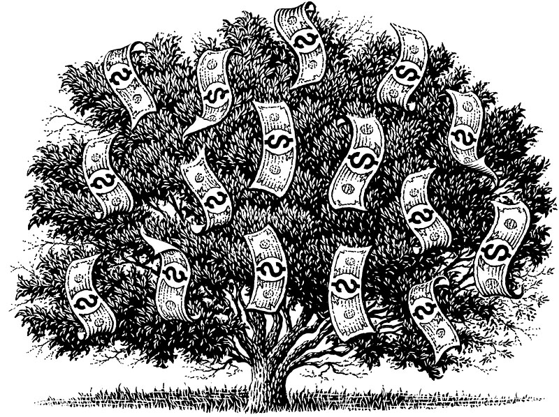 Money Tree With Dollars
