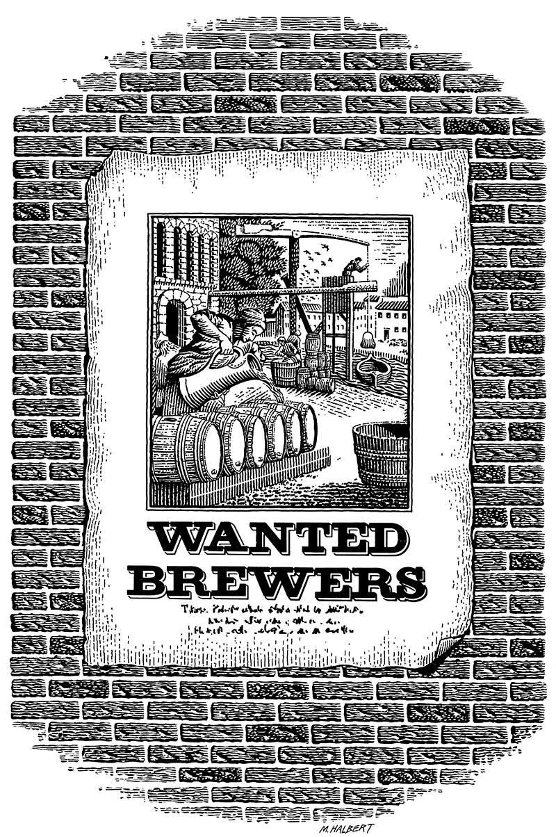 Beer Brewers Wanted Poster