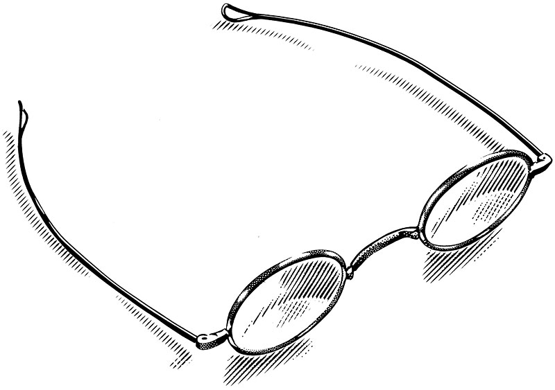 Wire-Rim Eye Glasses, Spectacles