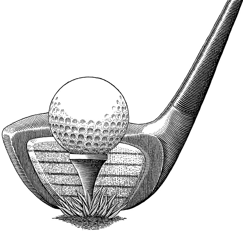 Golf, Golf Club, Golf Ball, And Golf Tee
