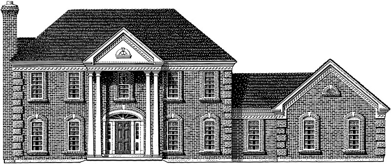 Brick House Front Elevation