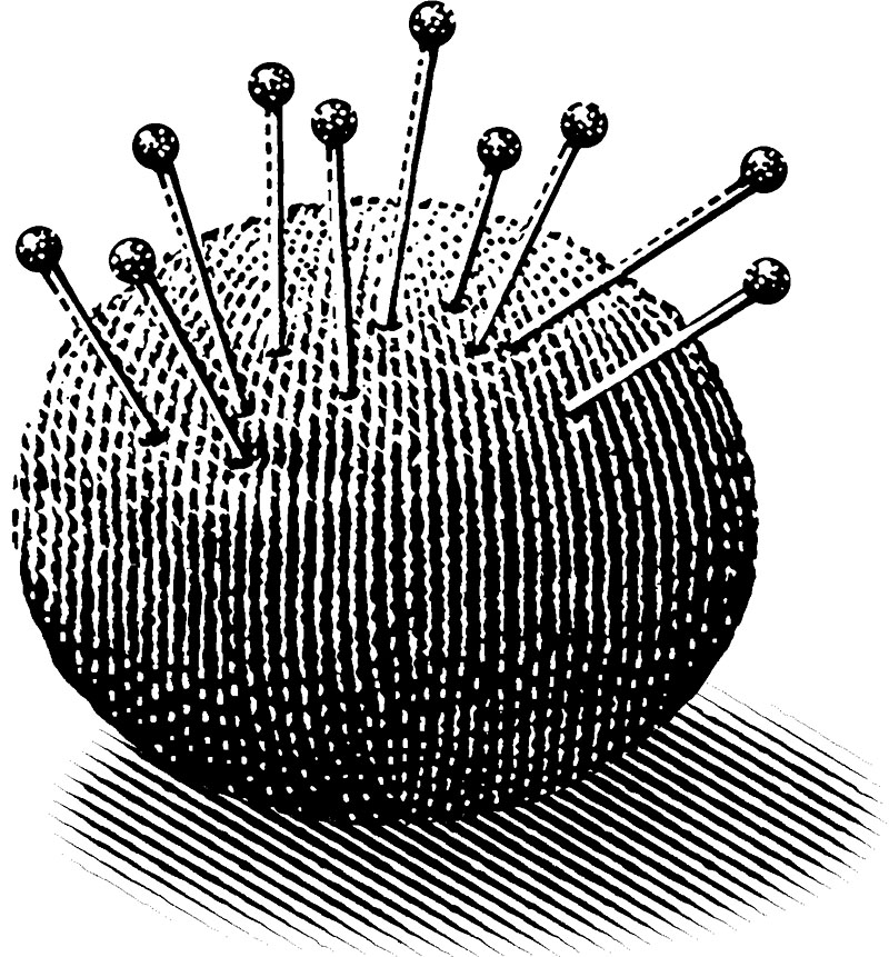 Pin Cushion with Pins