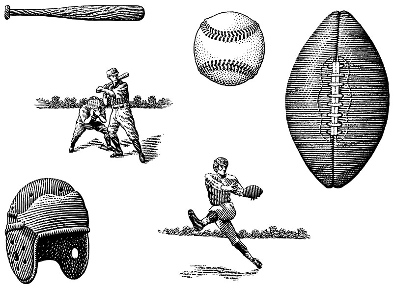 Baseball And Football Icons