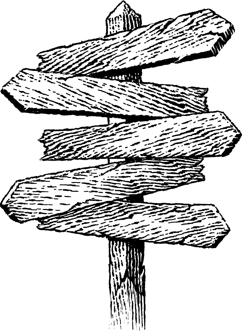Wood Sign Post