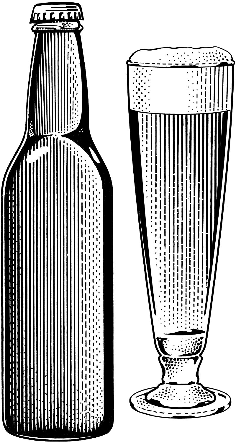 Beer Bottle and Beer Glass