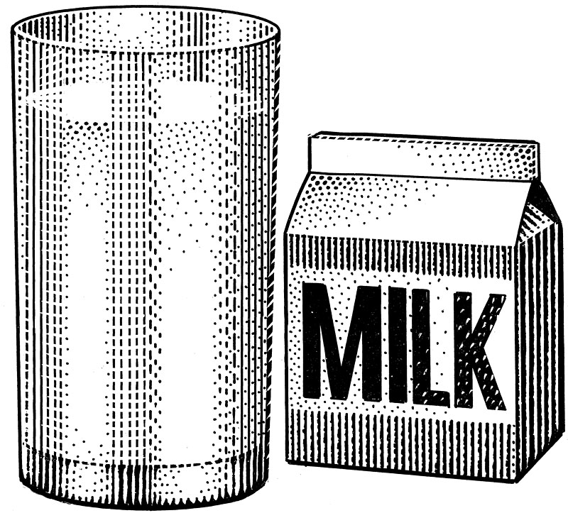 Glass Of Milk And Milk Carton