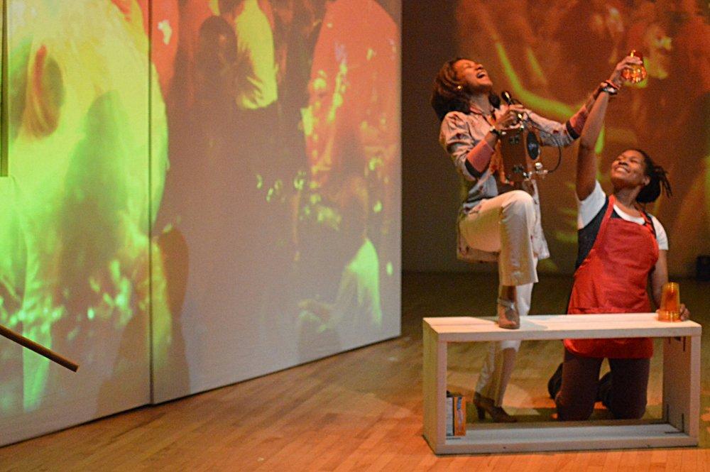 Zuleyma Guevara and Tia James in Radical Evolution's  Golden Drum Year .