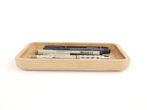 Utology solid oak desk tidy made in England