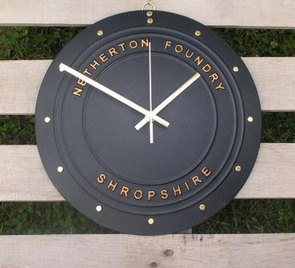 Cast Iron clock made in England