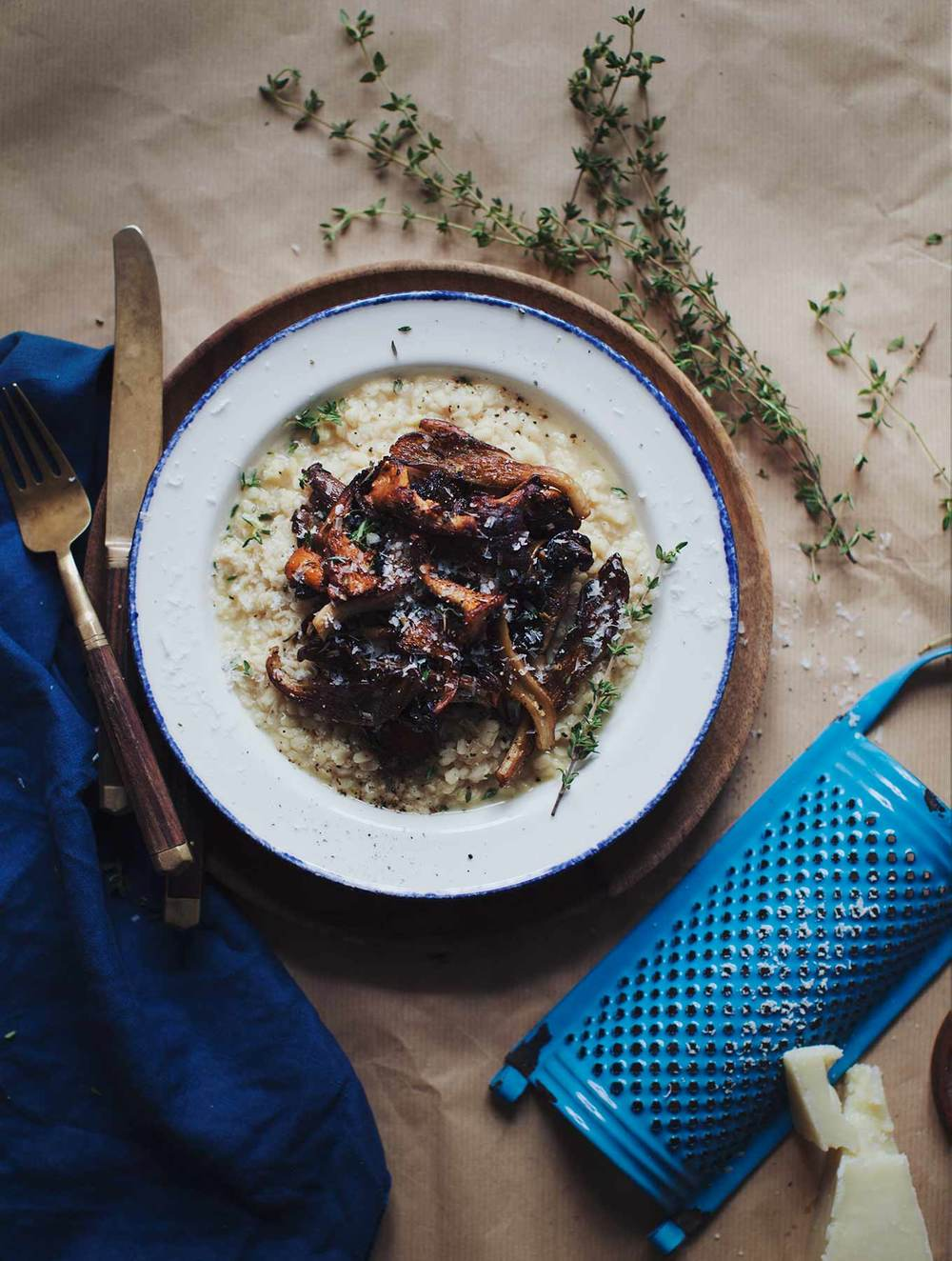 White Lentil Risotto with Mushrooms