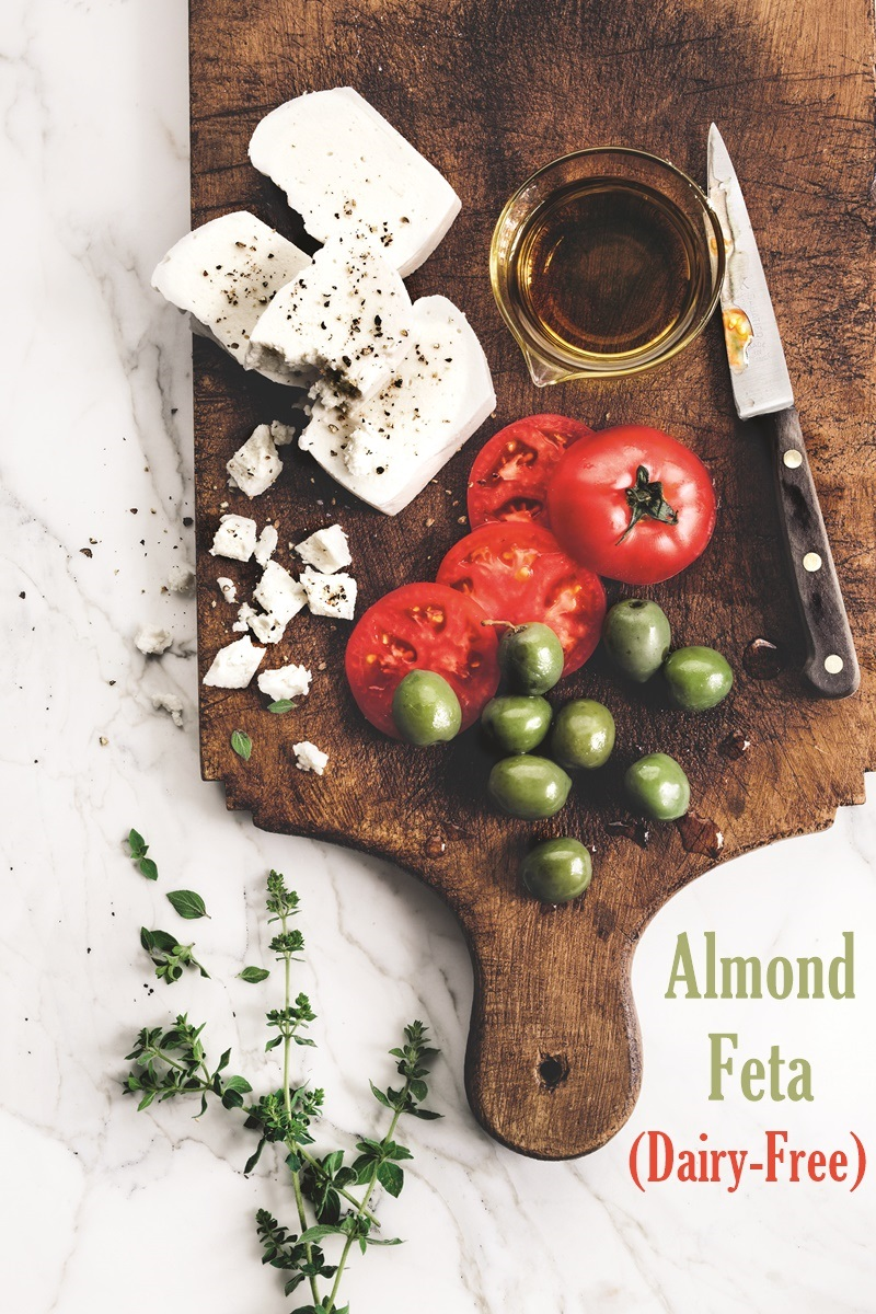 Dairy-free Almond Feta Cheese
