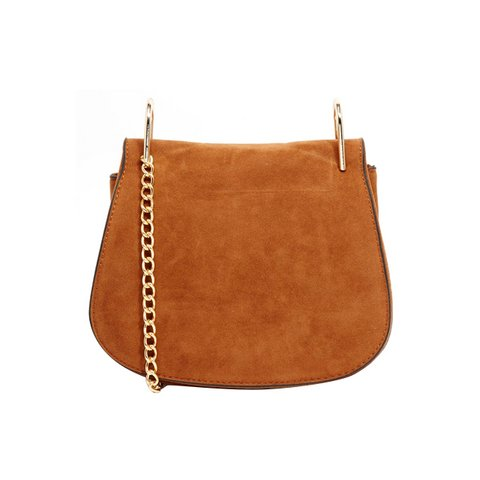 YOKI FASHION FAUX SUEDE SADDLE BAG