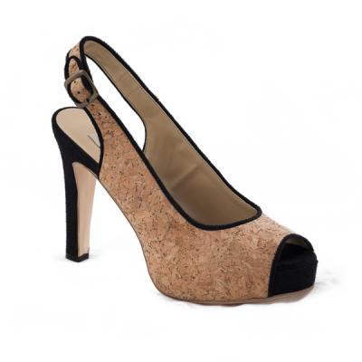 NAE alexia cork vegan heels