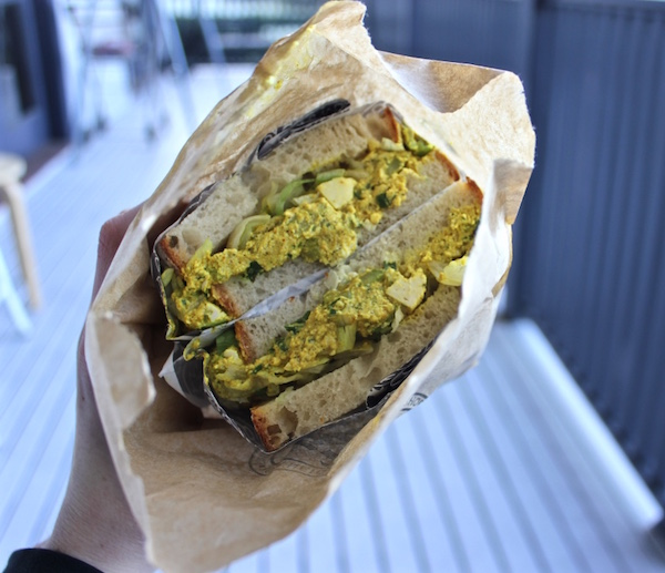 Vegan Curried Egg Sandwich from Smith & Deli, Fitzroy.