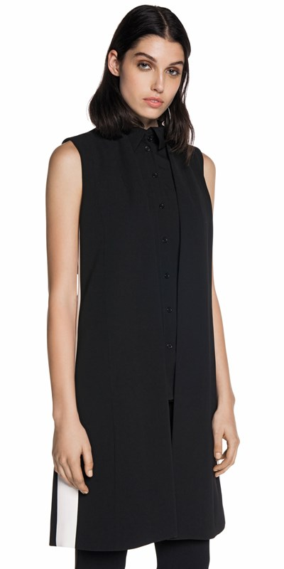 Draped sleeveless jacket. Made in Australia. Was $269. Now $134.50