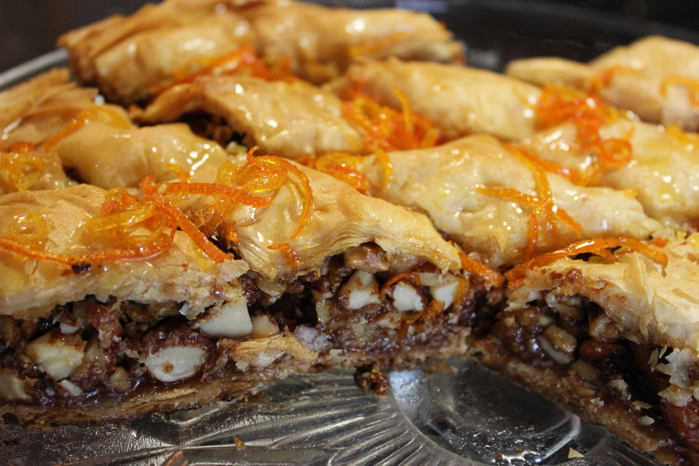 VEGAN BAKLAVA WITH CITRUS SYRUP RECIPE