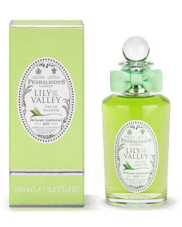 3: PENAHALIGON'SLILY OF THE VALLEYEAU DE TOILETTE - One of our own favourites(we both stocked up on this fragrance from the Covent GardenPenahaligon's store when in London last year),this eau de toilette evokes a gentle, romantic top notewith a lasting depth from the sandalwood.