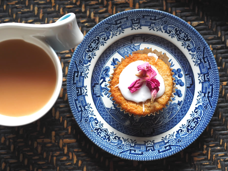Rose Water Patty Cakes - (dairy-free // egg-free // vegan)