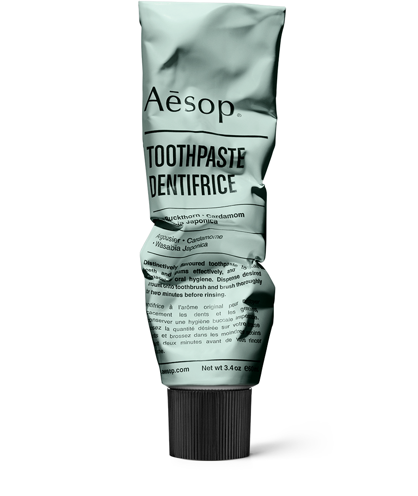 2: aesop - packaging: metal tube