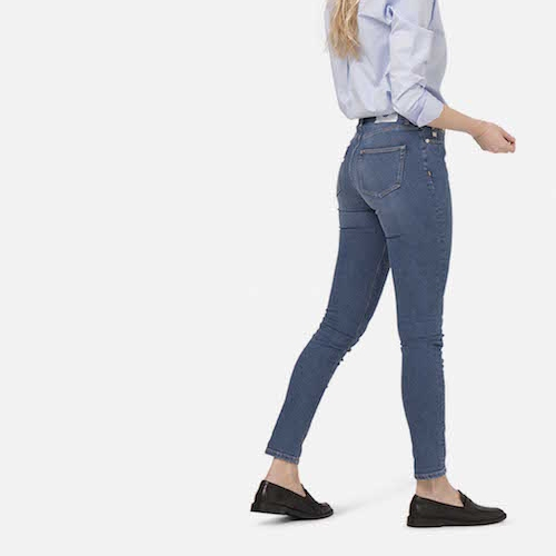 MUD Jeans - A wonderful Dutch denim brand. Their jeans are made from organic cotton, and they also work on a circular model - allowing you to send them back jeans you no longer wear to be upcycled. MUD are PETA approved vegan (as they don't use leather tags) and you can even rent their jeans. They also make clothing from cool materials like upcycled denim sweaters.