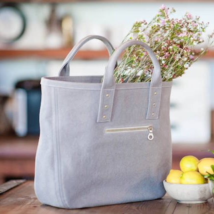Filbert - Designed in California, cut & sewn in New York City. This handbag label launched in 2017 with a focus on environmentally conscious materials (including organic cotton linings and zero-waste packaging). Made in America.
