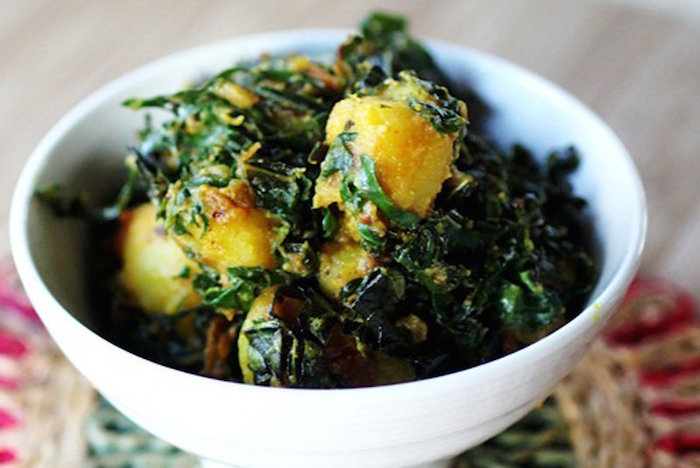 Saag Alu - Potatoes w Seasonal Greens