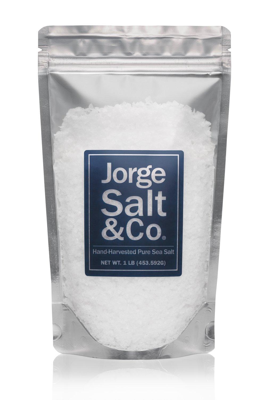 1 LB. of Jorge Salt & Co. Hand-Harvested Pure Sea Salt.