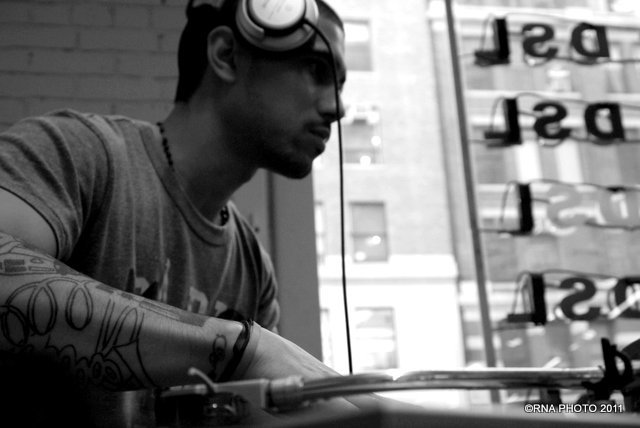DJ. Mills @ Diesel/55DSL In-Store event, nyc