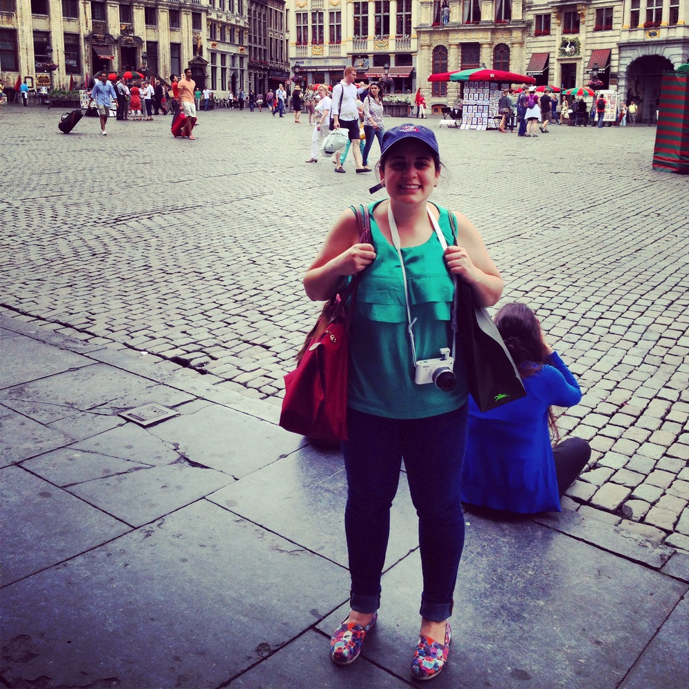 Here I am in this candid photo in Brussels, demonstrating how to stick out as a chocolate-hungry tourist.
