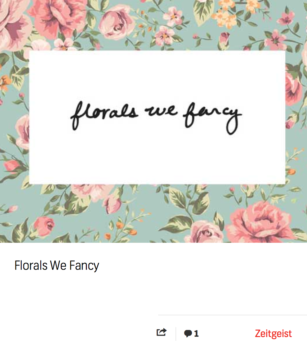 Blog: Florals We Fancy
