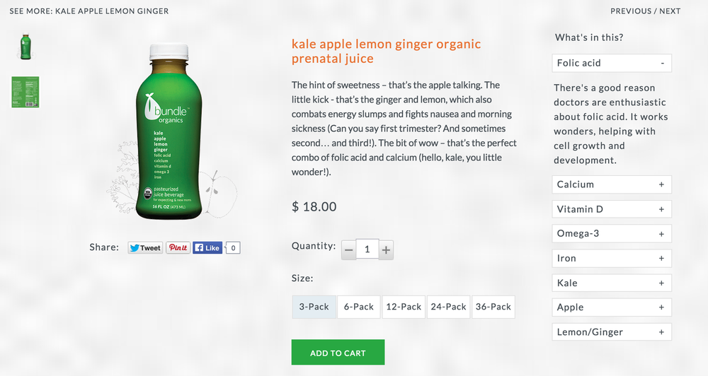 Product Description: Kale Apple Lemon Ginger