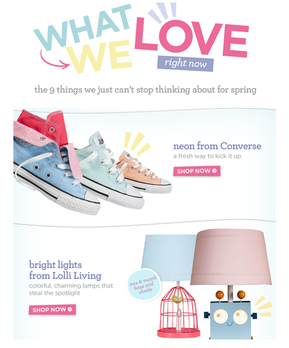 Email: What We Love Right Now