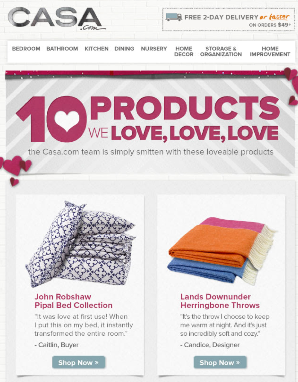 Email: 10 Products We Love, Love, Love