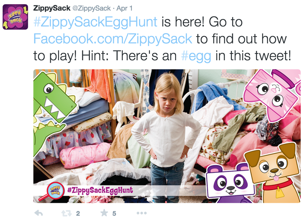 Twitter: The Great ZippySack Egg Hunt