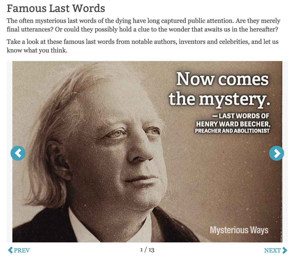 Slideshow: Famous Last Words