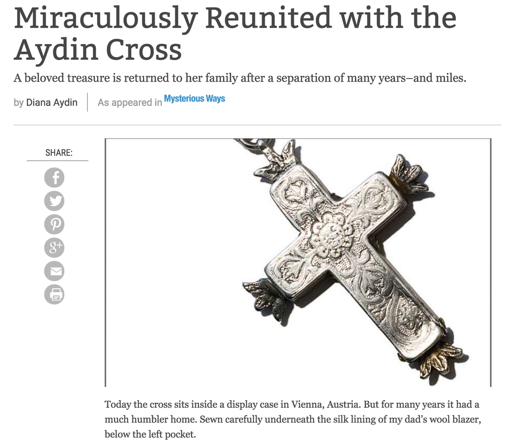 Story: Miraculously Reunited with the Aydin Cross