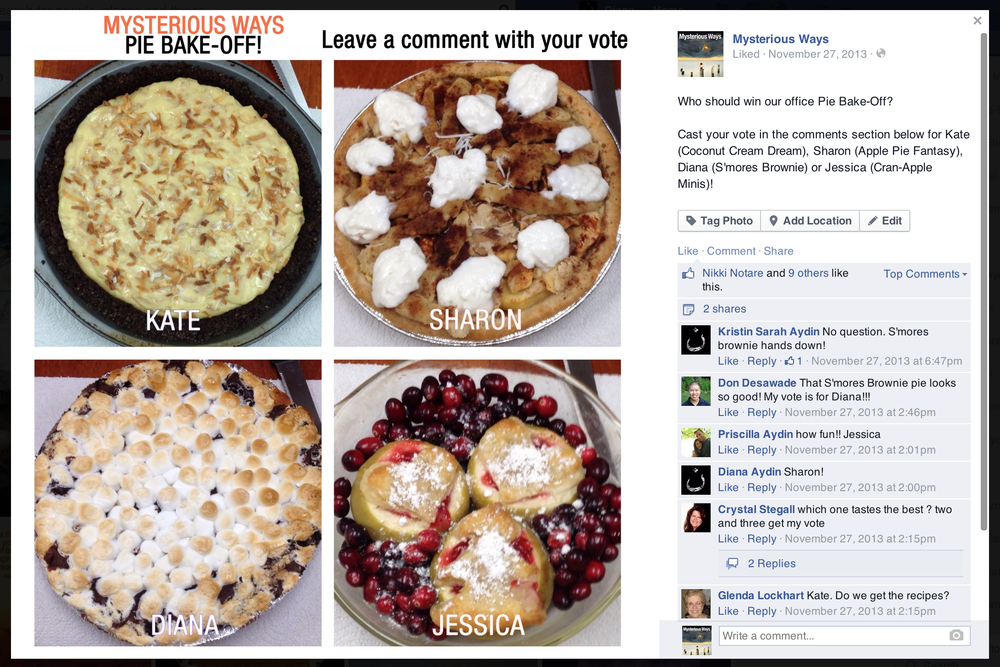 Facebook: Pie Bake-Off