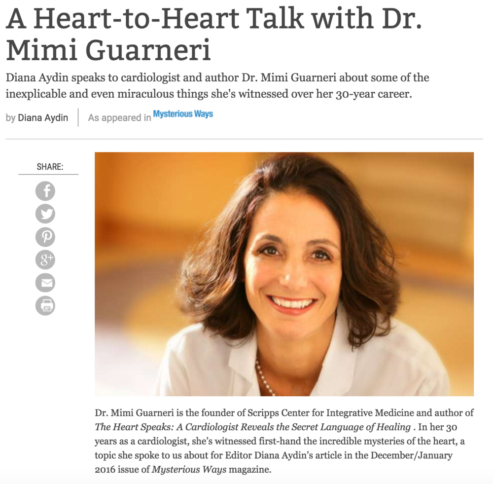 Q&A: A Heart-to-Heart Talk with Dr. Mimi Guarneri