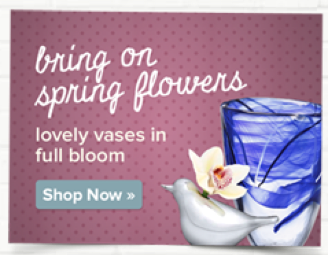 Banner: Bring on Spring Flowers