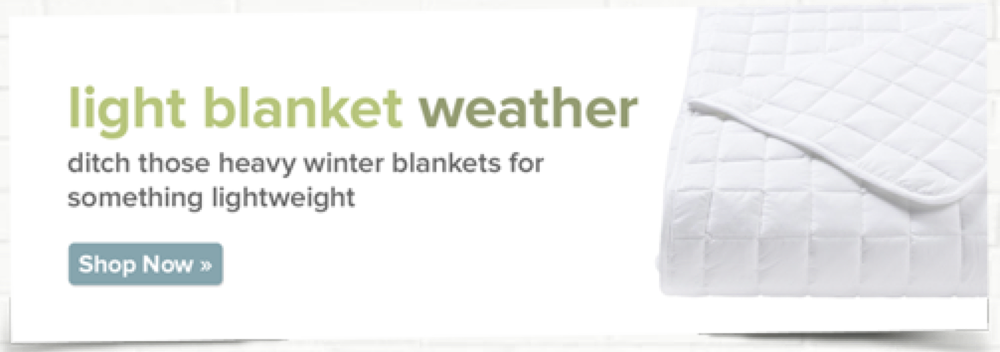 Banner: Light Blanket Weather