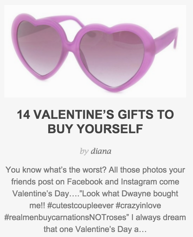 14 Valentine's Gifts To Buy Yourself