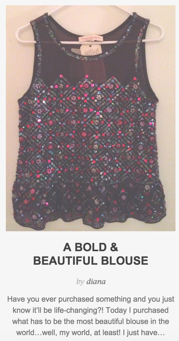 A Bold & Beautiful Blouse