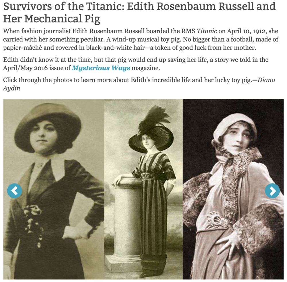 Slideshow: Survivors of the Titanic