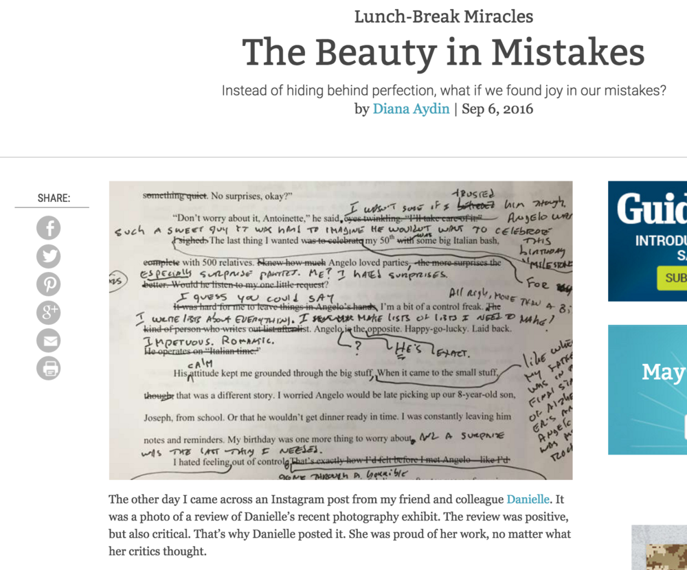 The Beauty in Mistakes