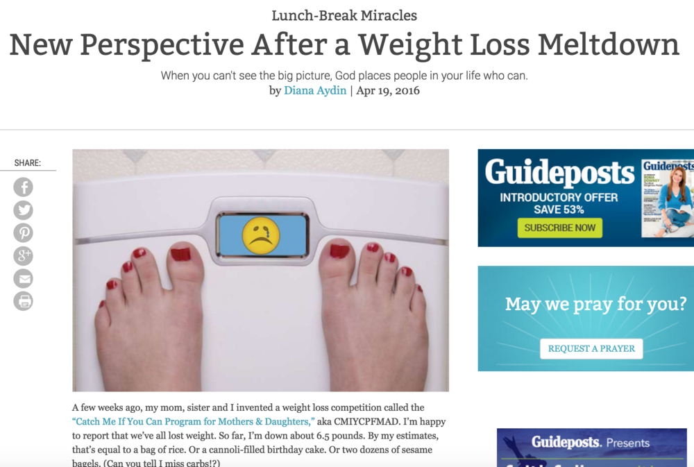 New Perspective After a Weight Loss Meltdown