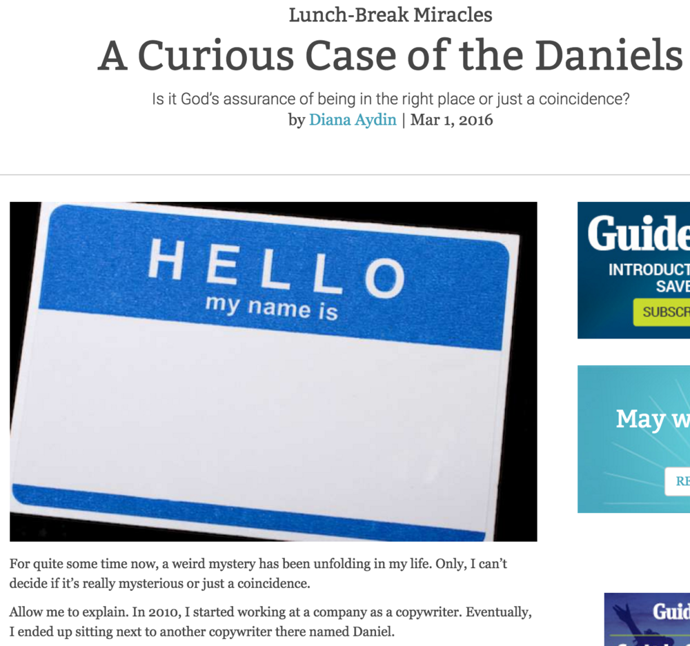 A Curious Case of the Daniels