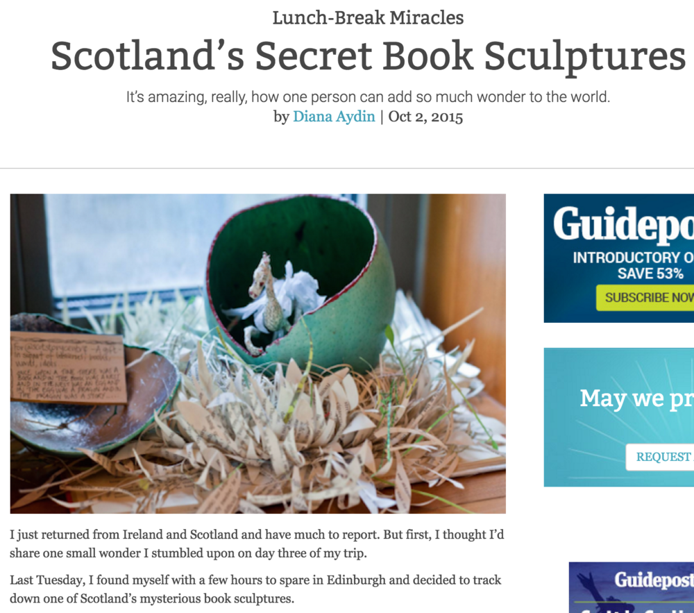 Scotland's Secret Book Sculptures