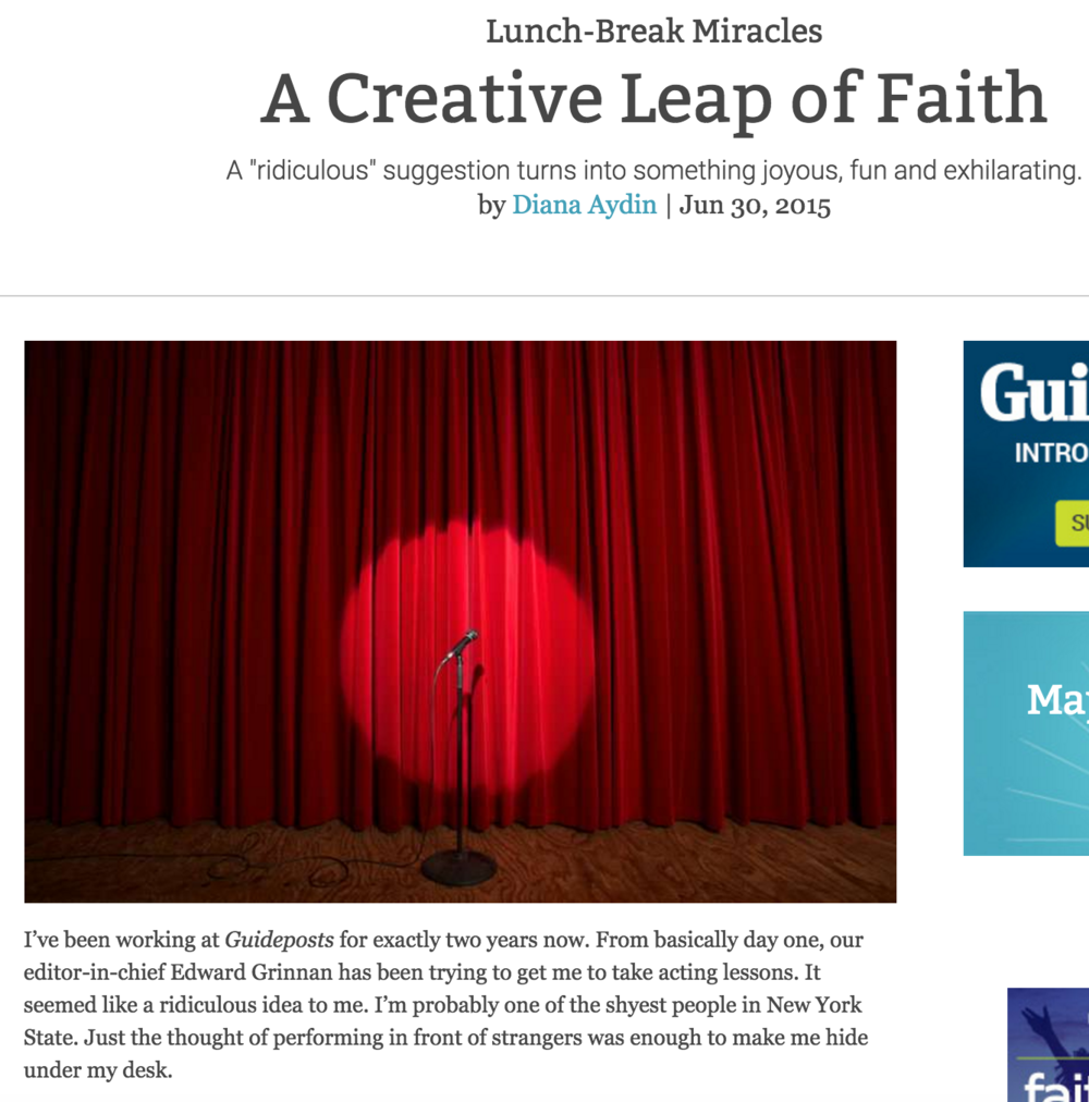 A Creative Leap of Faith