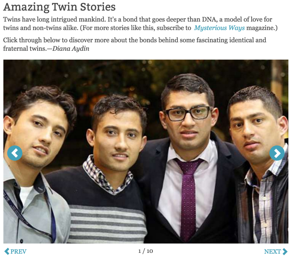 Slideshow: Amazing Twin Stories