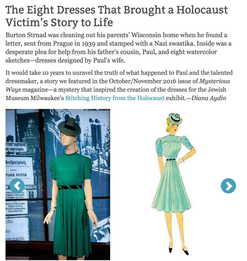 Slideshow: 8 Dresses Brought A Holocaust Victim's Story to Life